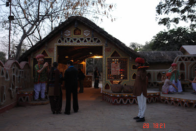 Photo of Tourists entering a second gate inside Chokhi Daani