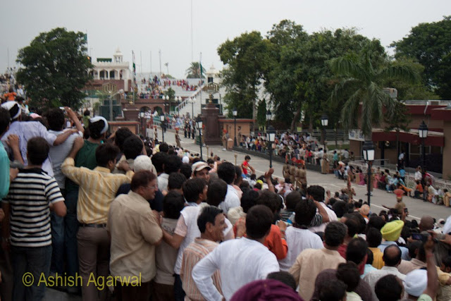 The fence at the Wagah Border is fully open at this point of time
