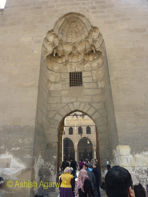 Saladin Citadel in Cairo - Grand arched Entrance to the Nasir mosque