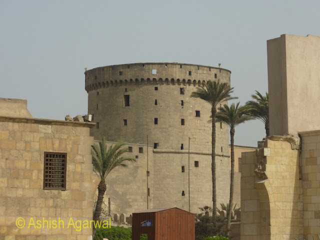 Saladin Citadel in Cairo - a view of defensive tower in the structure