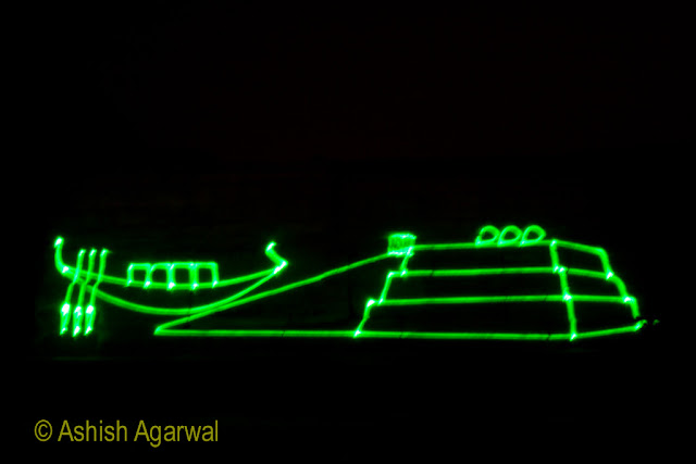 Cairo Pyramids - Lasers at the sound and light show