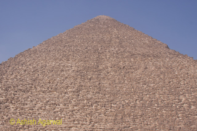 Cairo Pyramid - The stones that make up the structure of the pyramid, a huge building