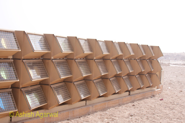 Cairo Pyramids - Array of lights used to light up the pyramids at the Great Pyramid in Giza