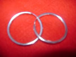 Argola em prata 950 (novas) 25,00