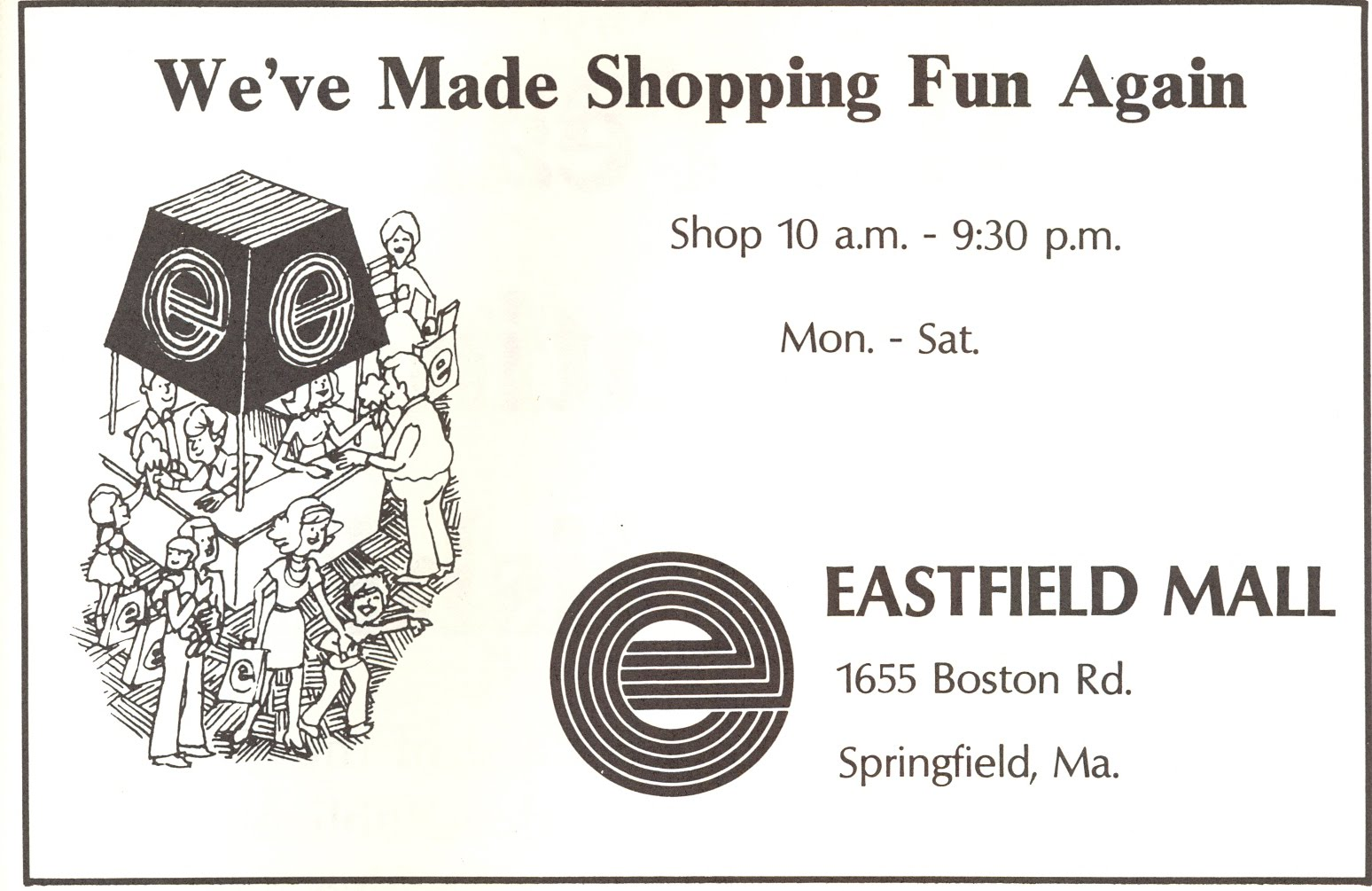 The Eastfield Mall at last. Dan and I limped off the bus and walked ...