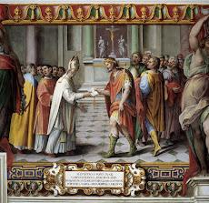 La donazione di Costantino a Papa Silvestro l