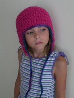 Chunky Earflap Hat Crochet Pattern Free : Peanutzmoms Pattern Place: Kids Earflap Hat