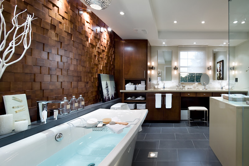 Candice Olson design; Projection wood tiles Jamie Beckwith Collection title=