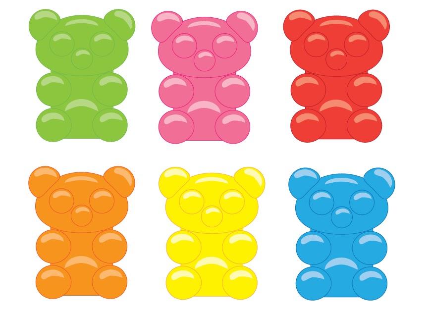 Jellybean Lab: Making Candy! Gummy Bear Vector Art Free