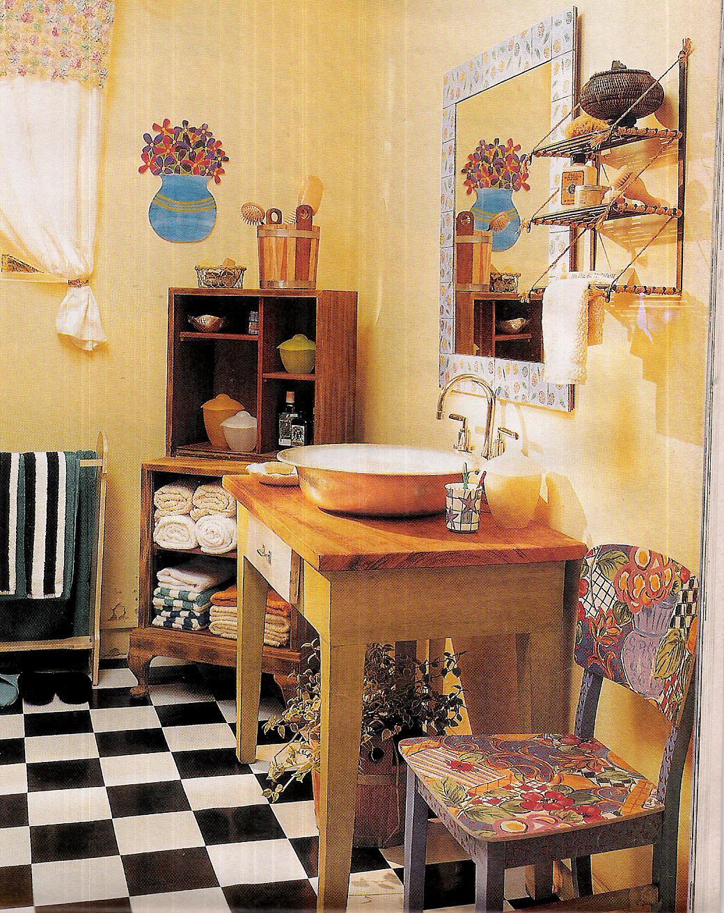 Construindo Meus Sonhos: Bancada de Banheiro Idéias com mesas! #B1801A 1040x1312 Bancada Banheiro Laca