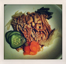 chilled sesame peanut noodles