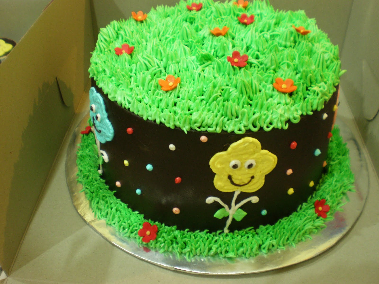 images of cakes with garden theme - photo #13