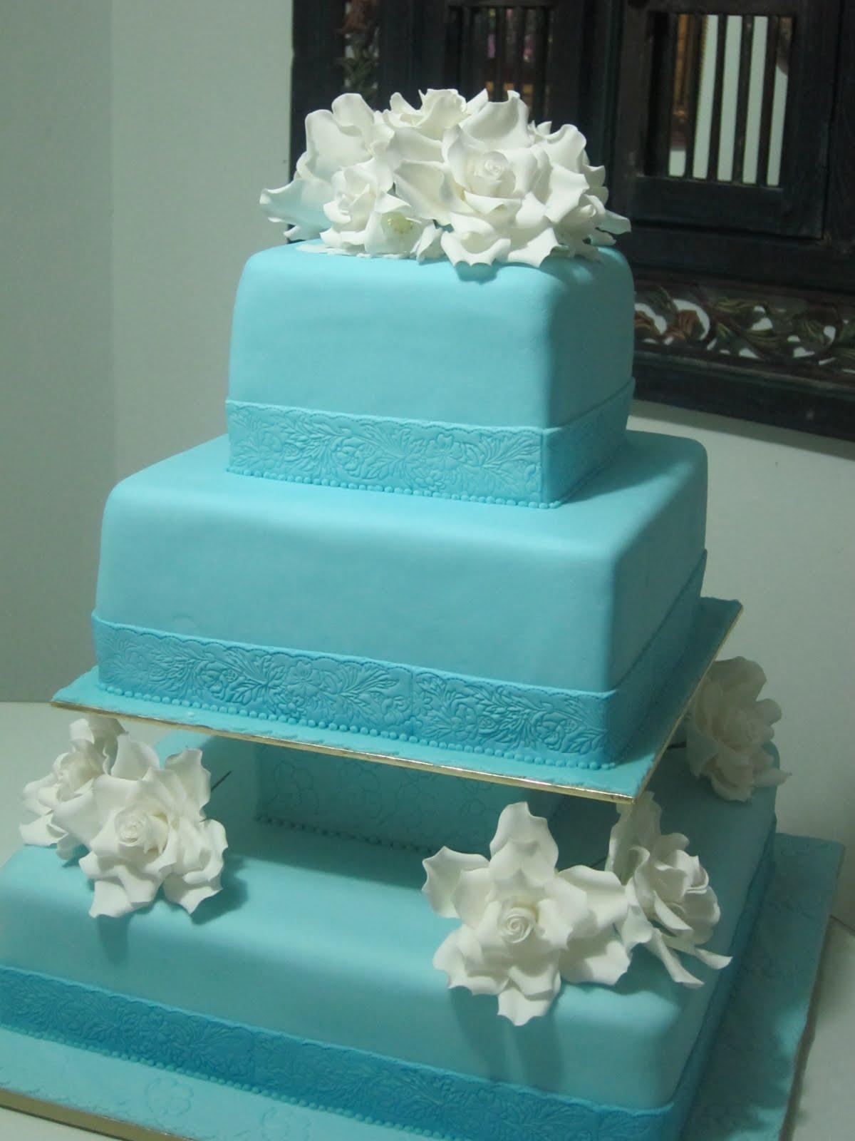 Light Blue Wedding Cake Viewing Gallery