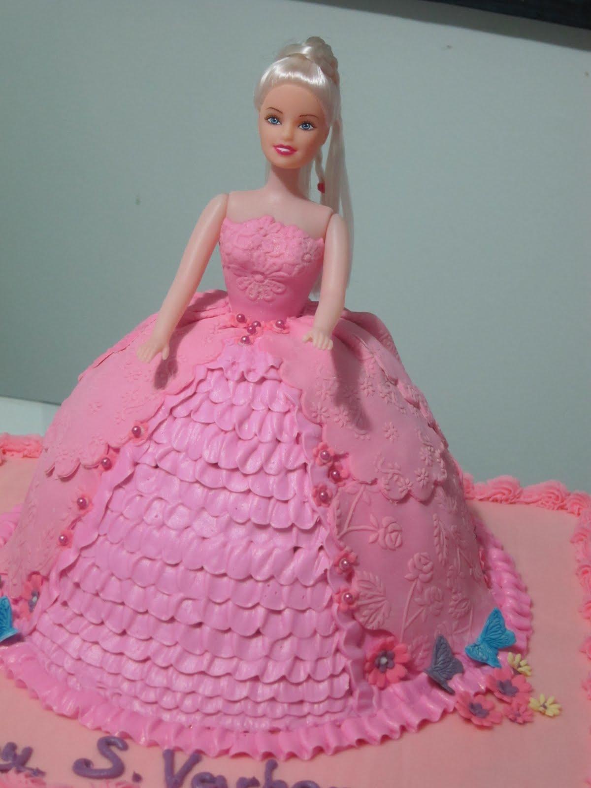 Торт Кукла Барби пошаговый рецепт с фото в домашних условиях 15
