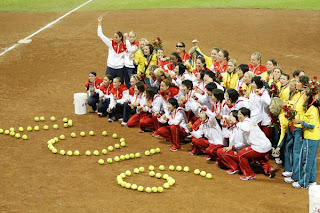 Olympic Softball Teams U.S. Australia and Japan