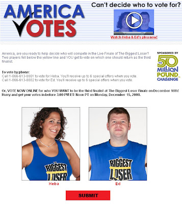 America Votes on the 3rd Finalist