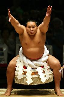 Sumo wrestler Asashoryu from Mongolia