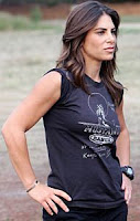 The black team's trainer Jillian Michaels