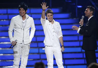 Adam Lambert, Ryan Seacrest, and Kris Allen