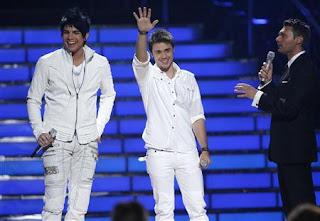 Adam Lambert, Ryan Seacrest, and Kris Allen