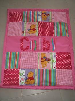 Pink Pooh Bear design 95x120cm