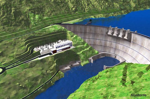 Montante da Barragem do Baixo Sabor