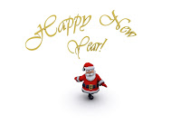 santa singing new year songs wallpaper