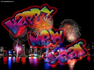 New Year Fireworks Animated Wallpaper
