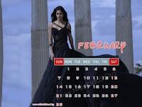 Katrina Kaif 2010 February Calendar