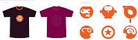tshirt and pictogram design on new ubuntu theme
