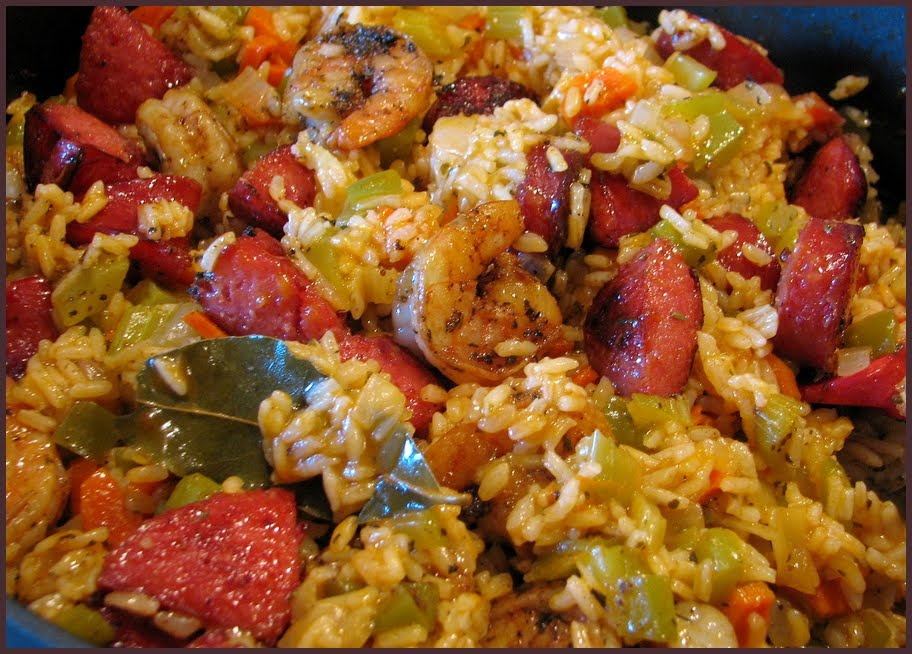 Andouille Sausage And Shrimp Scramble Recipe — Dishmaps