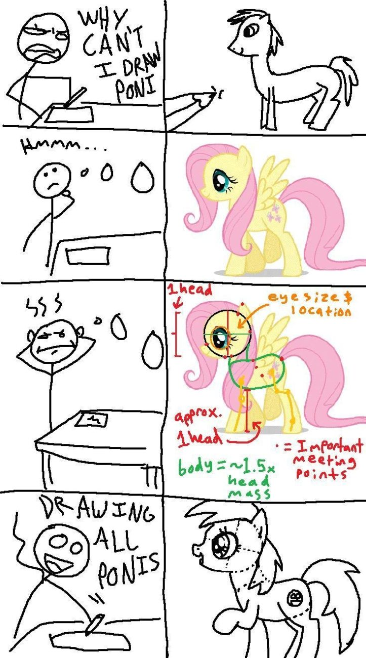 my little pony friendship is magic art drawing thread arts