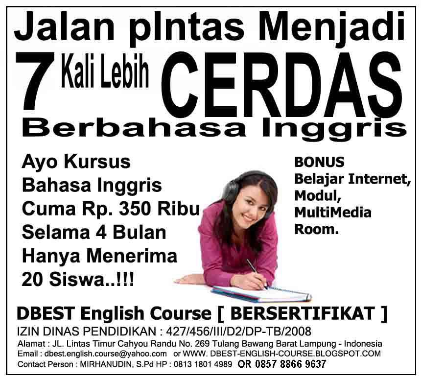 Kumpulan Soal Bahasa Inggris SD, SMP, SMA dan SOAL Bahasa Inggris UT