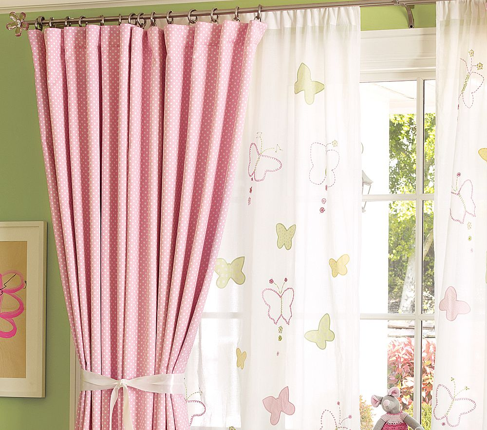 Light Pink Curtains For Nursery I think long drapes can make a