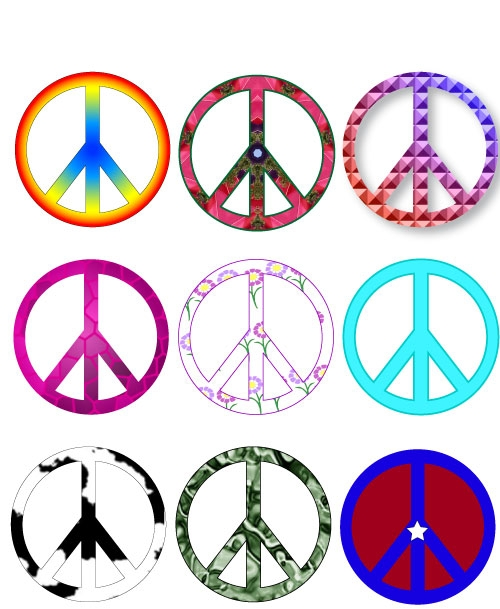Symbols Decals : Peace Symbol Vinyl Graphic Sticker. Approximate Dimensions: