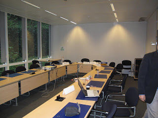 The meetingroom for the first external review of HANDS