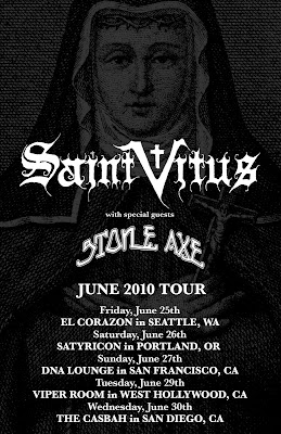 Saint Vitus Tour the West Coast in June