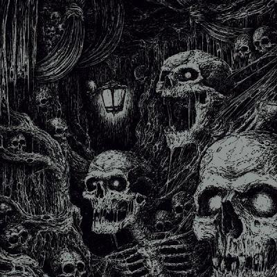 "Artwork Revealed for upcoming Coffins/Hooded Menace Split 7"""
