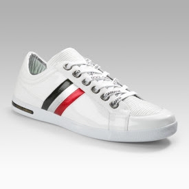 These patent leather sneakers by Dolce & Gabbana will give you supafly ...
