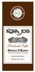 barack obama coffee barack o blend kona joe