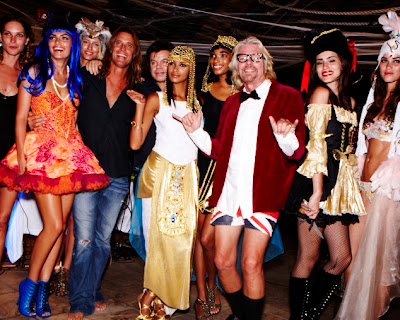 richard branson necker island supermodels