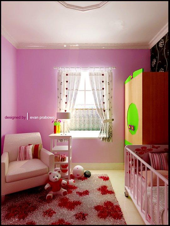 Salah satu desain kami adalah kamar bayi..