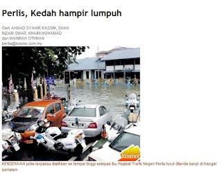 Perlis, Kedah hampir lumpuh