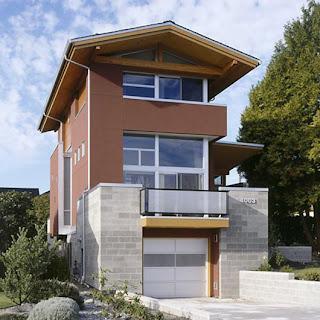luksusowy dom na wąską działkę