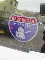 赤ちゃんが乗っていますの巻。