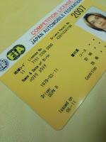 JAFモータースポーツ国内Bライセンス正式カードが届いたの巻。