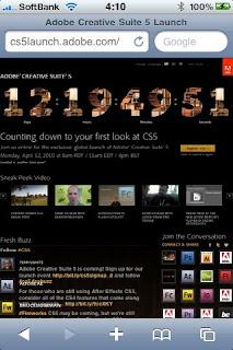 Adobe CS5の発売日は4月12日カウントダウン中