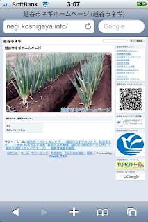 越谷市ネギホームページ