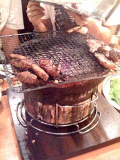高田馬場焼肉風風亭でチーム合同飲み会