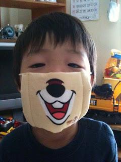 東京ディズニーシーで買ってきたチップのマスク